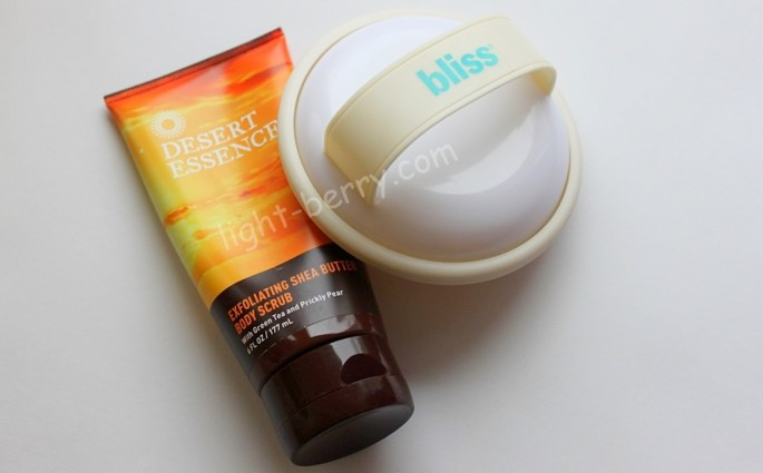 Desert Essence, Exfoliating Shea Butter Body Scrub and bliss fatgirlslimulator review