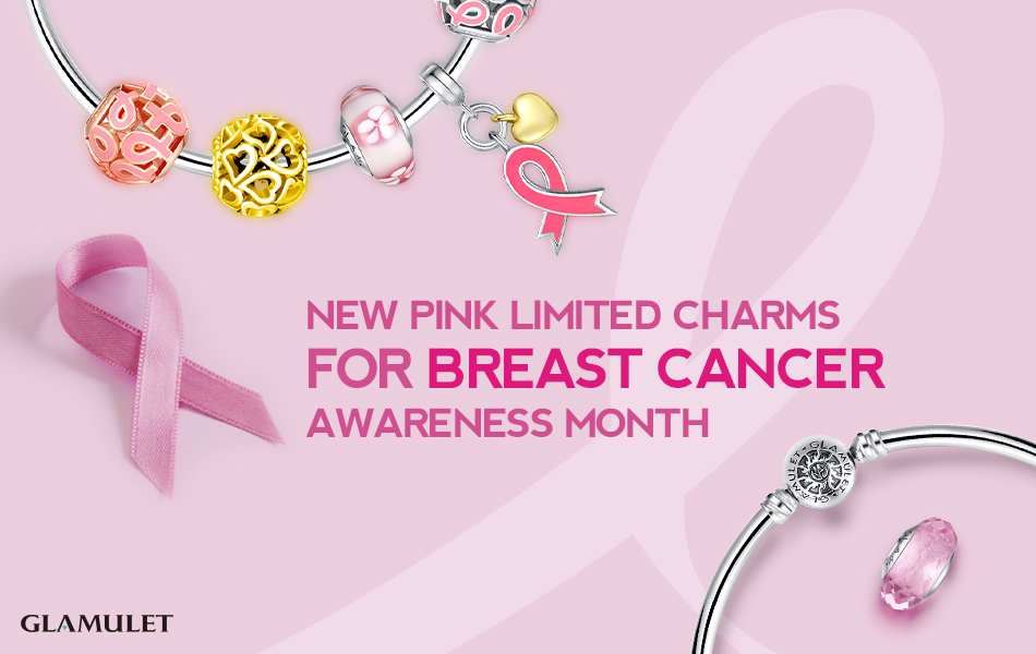 pink limited charms for breast cancer